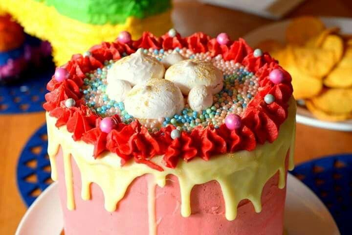 Mexican Fiesta cake. Drip cake. Www.facebook.com/Rkdesignsnz