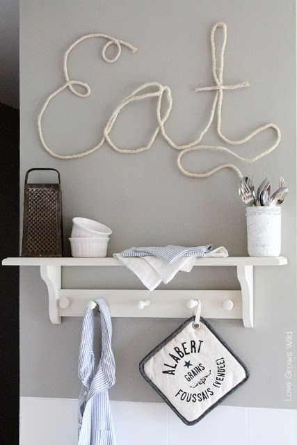 All you need is some rope and a few household ingredients to create these super cute rope letters! Customize yours to go with any room in your home!