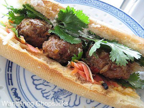 Banh Mi Xiu Mai (Vietnamese Meatball Sandwich)