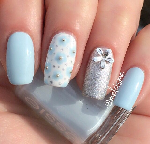Daisy nails by IG user melcisme