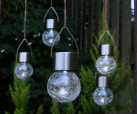 Sehr 5x LED Solar Hängeleuchte - Garten Deko Solarleuchte Gartenleuchte JF84
