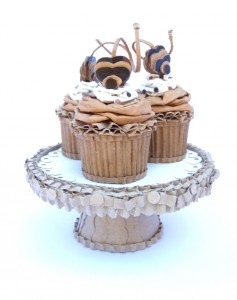 """artist/artista: Patianne Stevenson  """"Mini Cupcakes With Chocolate Cherries On A Silver Stand"""""""