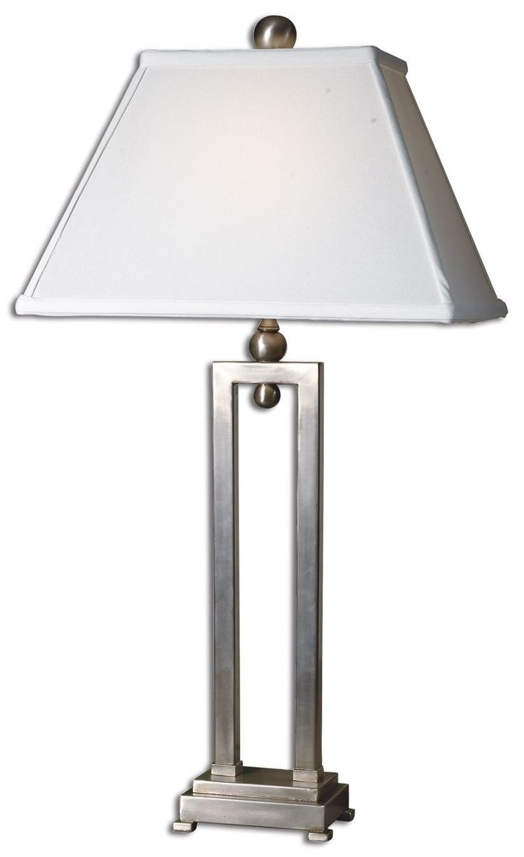 Silver table lamp - Conrad Contemporary Antiqued Silver Table Lamp By Uttermost