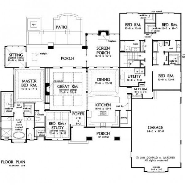 HOME PLAN 1378 - NOW IN PROGRESS - HousePlansBlog.DonGardner.com – Design 1378 has been named The Roseburg! NOW IN PROGRESS! This home plan has been selected for completion and will be available for purchase soon. #conceptualdesigns #dreamhomeplan #dreamhouseplan
