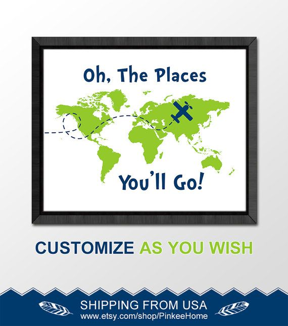 182 best dr seuss nursery oh the places you will go world map airplane nursery decor dr seuss quote print adventure nursery oh the places boy wall art travel nursery inspirational nursery world map gumiabroncs Images