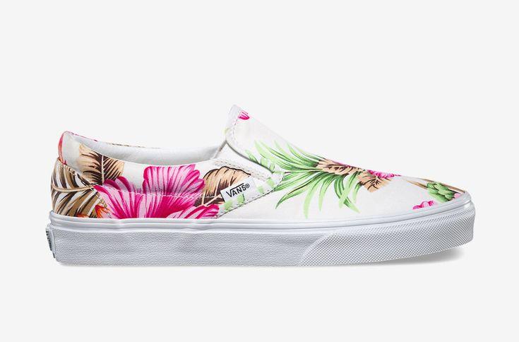 Vans Slip-On — floral print spring/summer 2015, women / Vans Slip-On s rostlinnými vzory — jaro/léto 2015 — dámské tenisky bez tkaniček  #vans #slipon #shoes #sneakers #floral #print #women #tenisky #boty #nolaces