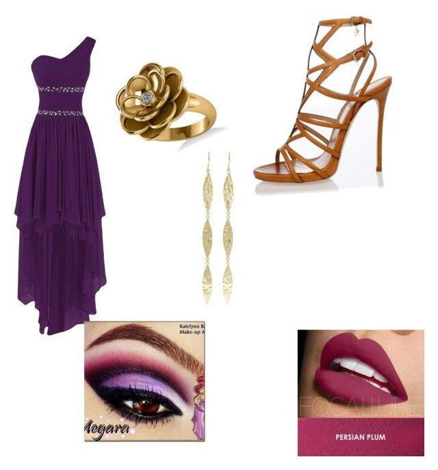 Megara/Disney by dixieq on Polyvore featuring polyvore fashion style Dsquared2 Allurez Jennifer Meyer Jewelry Disney clothing