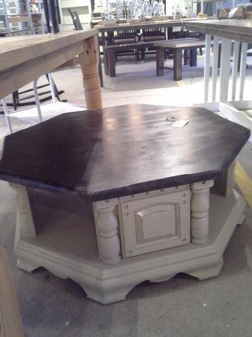 reclaimed u2014 octagon coffee table so 60s70s good gathering for gameswork