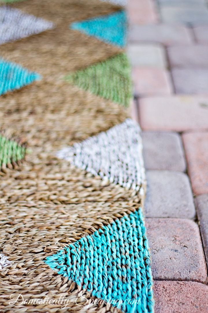 DIY: Diamond Painted Outdoor Rug Makeover And Tutorial