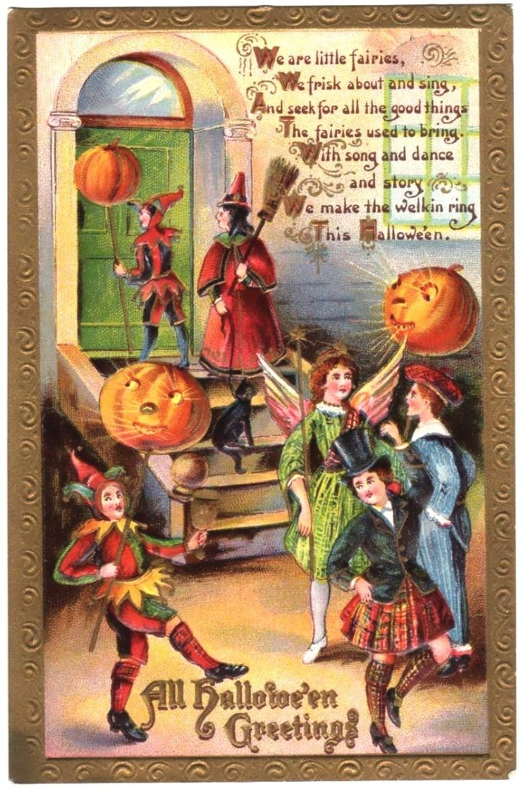 601 Best Antique Halloween Postcards Images On Pinterest