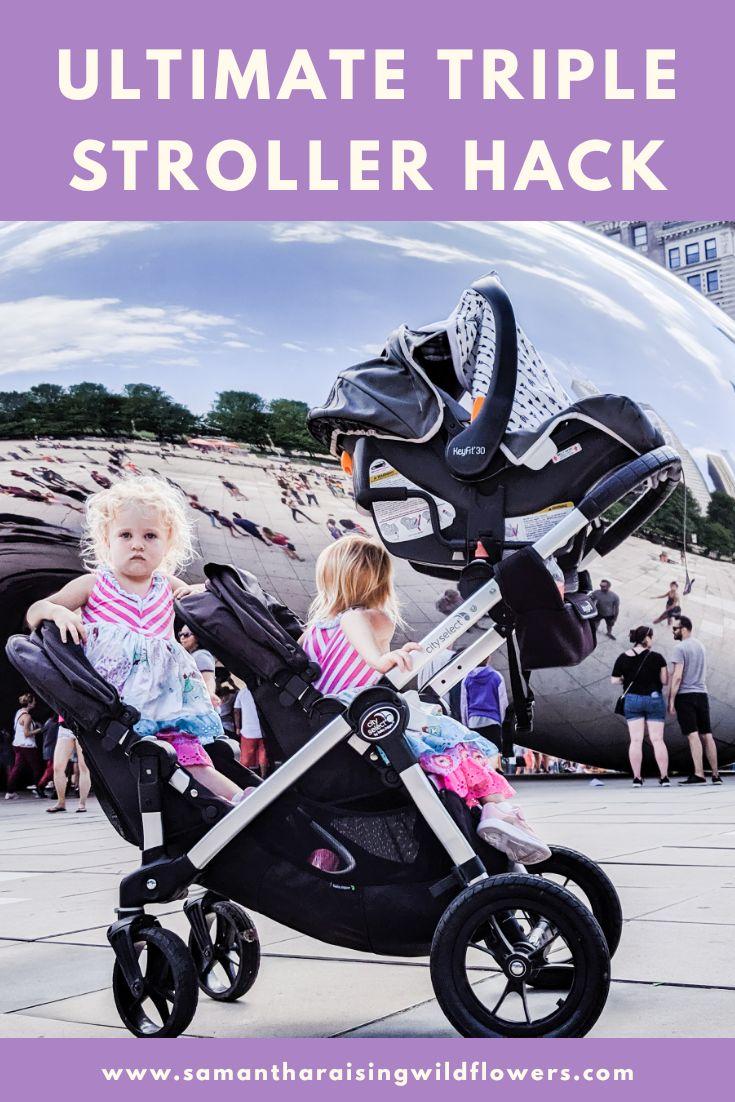 Ultimate Triple Stroller Hack in 2020 Baby jogger city