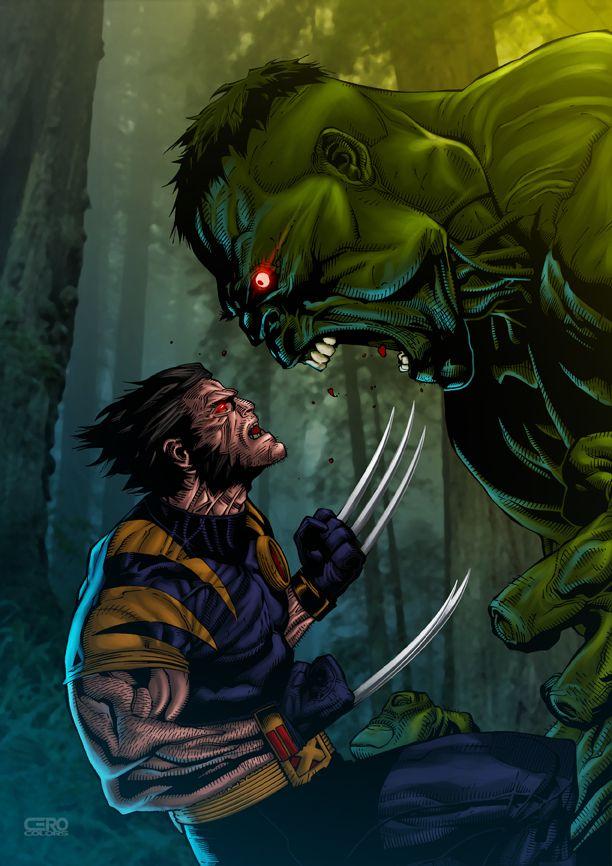 #Hulk #Fan #Art. (Wolverine vs. Hulk 01) By: Comicero. ÅWESOMENESS!!!™ ÅÅÅ+