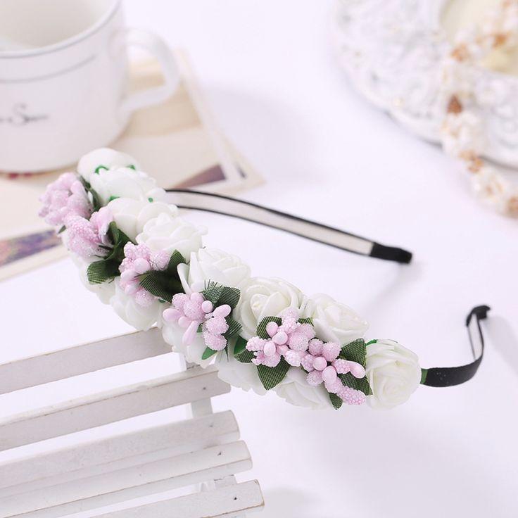 Wedding Hair Jewerlry Accessories Handmade Flower Bride Headband Tiara Wedding Hair Ornament Romantic Decoration Hair Jewelry