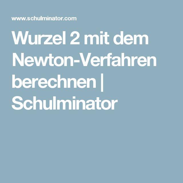 Wurzel 2 mit dem Newton-Verfahren berechnen | Schulminator