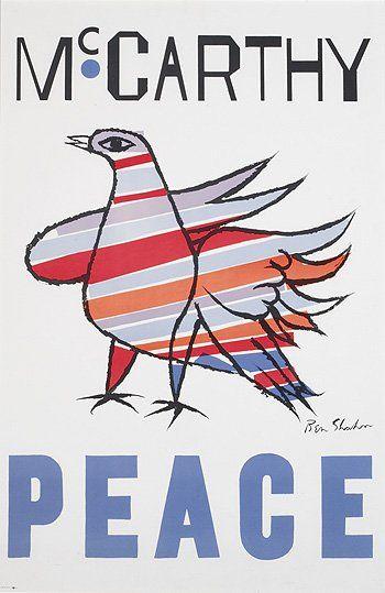 Eugene McCarthy for President poster, by Ben Shahn, 1968