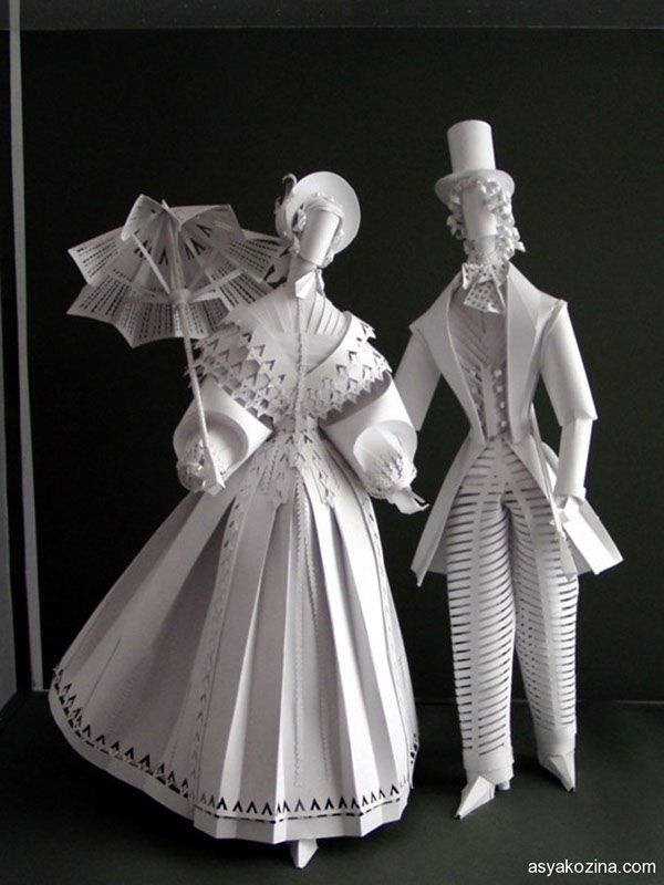 historical costume from paper