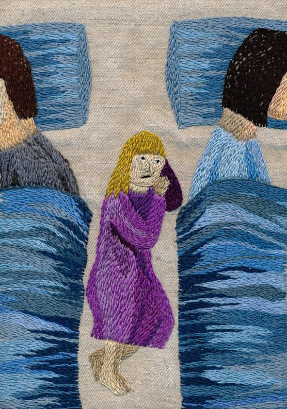 Deras ryggar luktade så gott embroidery by Åsa Grennvall