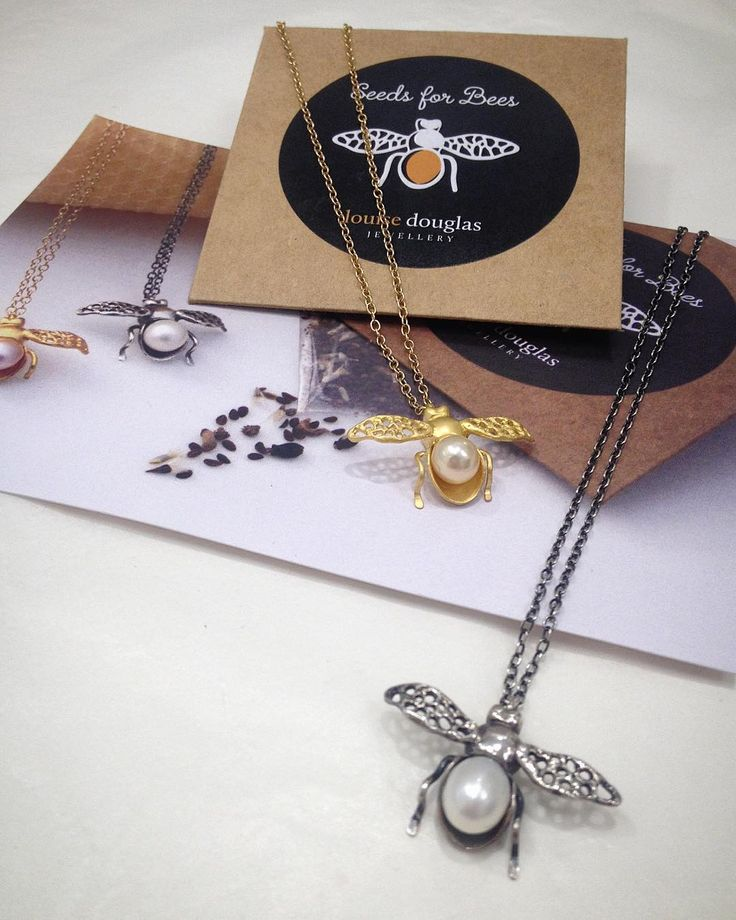 It's almost the end of September but we are still celebrating bees and the wonderful work they do. Louise Douglas' jewellery includes a packet of Wild Forage seeds with her Honey Bee necklaces. The proceeds go to the National Bee Keepers Association of NZ 🐝#beeaware #savethebees #beethechange  #madeinnewzealand #southisland