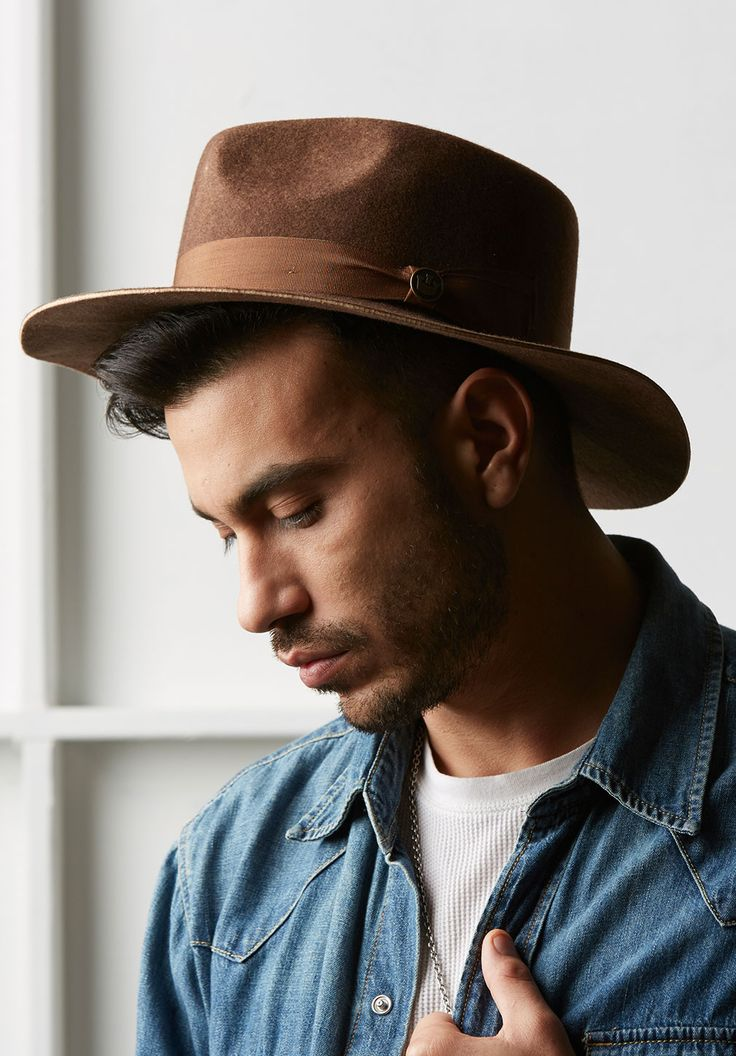 "Men's Hats | Goorin Bros. Hat Shops camel wide brim fedora (Goorin ""Stateline"" hat in black or grey)"
