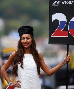 Grid Girls GP da Rússia Sochi fórmula 1