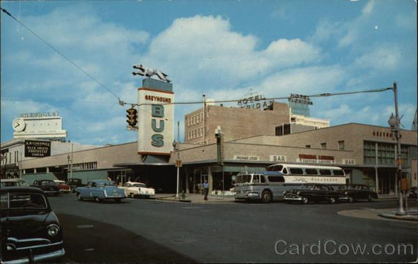 Greyhound Bus Station Jacksonville Fl Postcard Bus Station