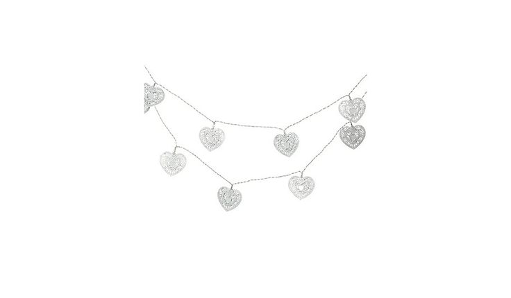George Home Laser Cut Metal Hearts String Lights, read reviews and buy online at George at ASDA. Shop from our latest range in Home & Garden. These adorable ...