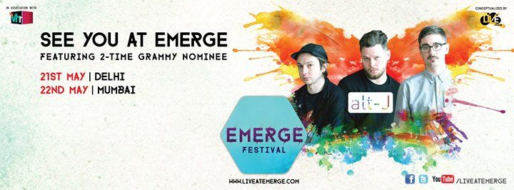 """We're back """"weather"""" you like it or not! Tickets for Alt-J in Mumbai and Delhi here: http://www.meraevents.com/event/emerge-festival&Ucode=DMSY #GuessWhosBack #Mumbai #Delhi"""