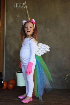 Fasching Verkleidung für kleines Mädchen - Einhorn