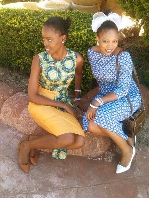 When shweshwe meets wax print,