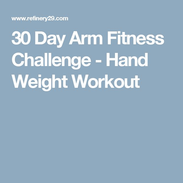 30 Day Arm Fitness Challenge - Hand Weight Workout
