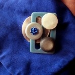 Brooch from vintage buttons & buckle