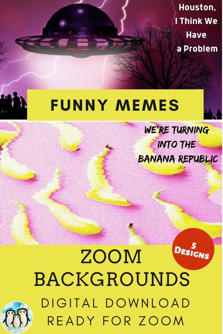 Zoom Virtual Background Bundle of 5 Funny Memes Zoom