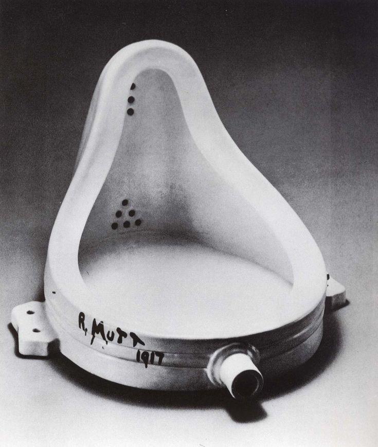 Marcel Duchamp- ready made- A criação artística não implica confecção mas sim apropriação