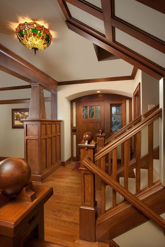 Love the entry way and stairs  Craftman Design, Pictures, Remodel, Decor and Ideas