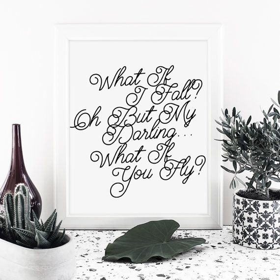 Handwritten Quote print Printable art Instant by MessProject  #instantdownload #digital #etsy #messproject