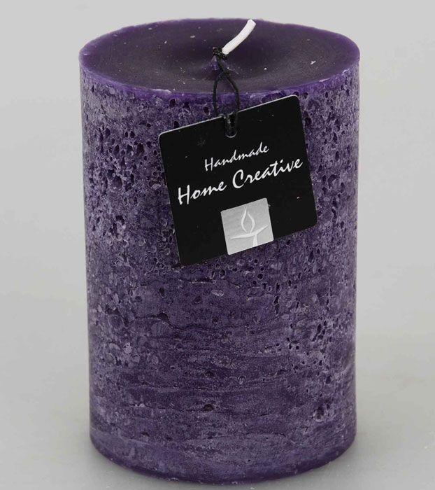 Kynttilät ja lyhdyt - Kynttilä 9,5 cm lila - Hyvän Tuulen Puoti