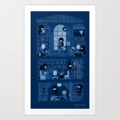Buy Silence in the Library by Anna-Maria Jung as a high quality Art Print. Worldwide shipping available at Society6.com. Just one of millions of products…