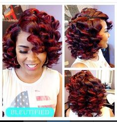 90 best weave and wigs images on pinterest hairstyles black and ombre roller set quick weave google search pmusecretfo Images