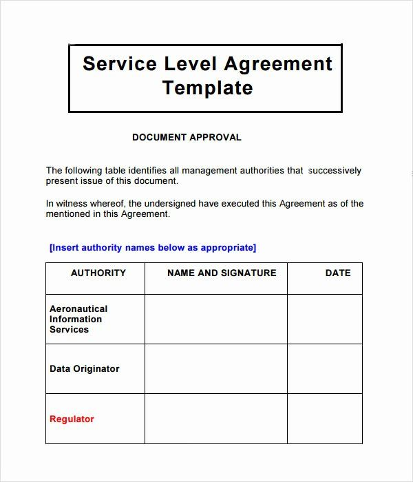 Service Contract Template Doc In 2020 Service Level Agreement