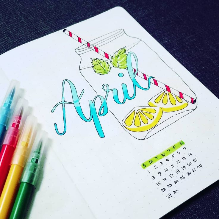 25 Adorable April Spreads for your Bullet Journal