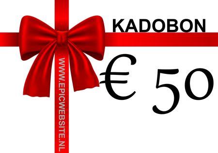Een gratis cadeaubon ter waarde van EUR 50,-