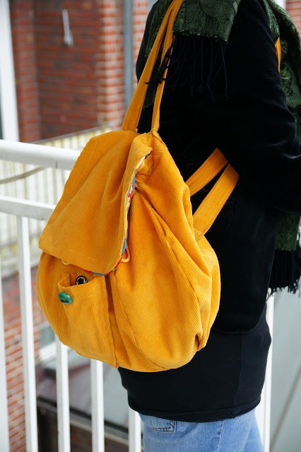 DIY Backpack! translate though.. lol  Change it a lot and make it so it has more pockets