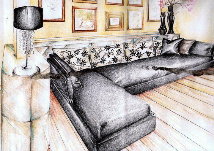 Un mio disegno per un contratto di vendita di un soggiorno con un #divano su misura #attebasile0129 #attebasileattebasile #sketches