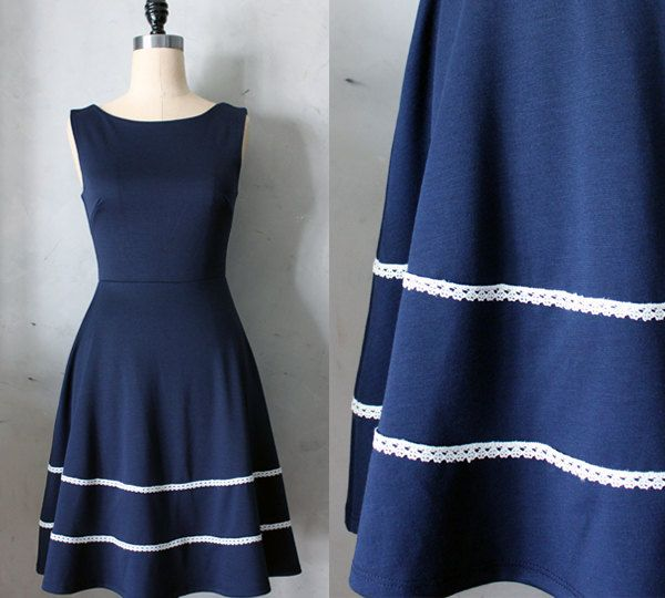 COQUETTE+in+NAVY++Navy+blue+dress+with+pockets+by+FleetCollection,+$68.00