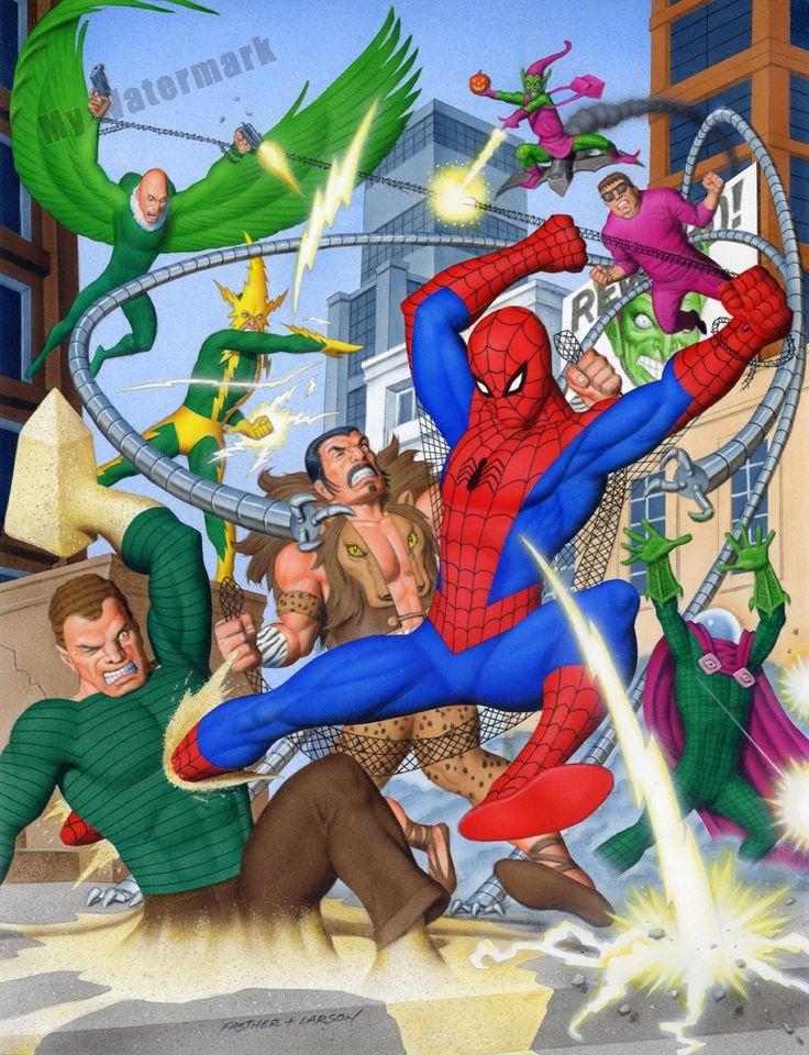 Spider-Man vs Sinister Six & Goblin by Rich Larson and Steve Fastner *