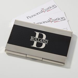 Create a professional executive gift with the Namely Yours Personalized Business Card Case. Find the best personalized office gifts at PersonalizationMall.com