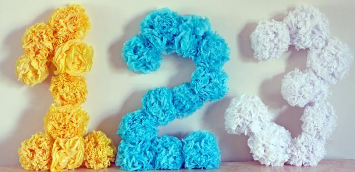 Как сделать объемные цифры на день рождения :: цифры для дня рождения :: Дизайн :: KakProsto.ru: как просто сделать всё