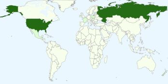 Often the most popular viewing countries on my website are the USA and Russia - I hope that I don't get caught in the crossfire!