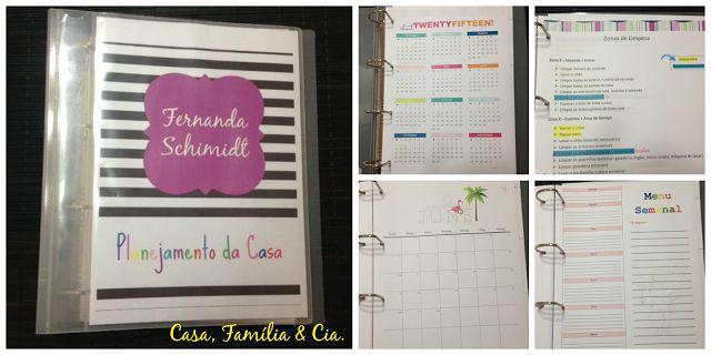 Casa, Família & Cia.: Control Journal - A organização da minha casa (desafio do blog Vida Organizada)