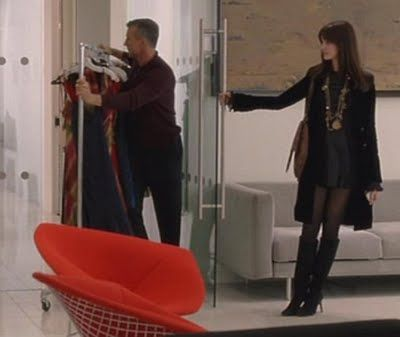 My fav look from The Devil Wears Prada - though I would never be comfortable wearing the short dress.